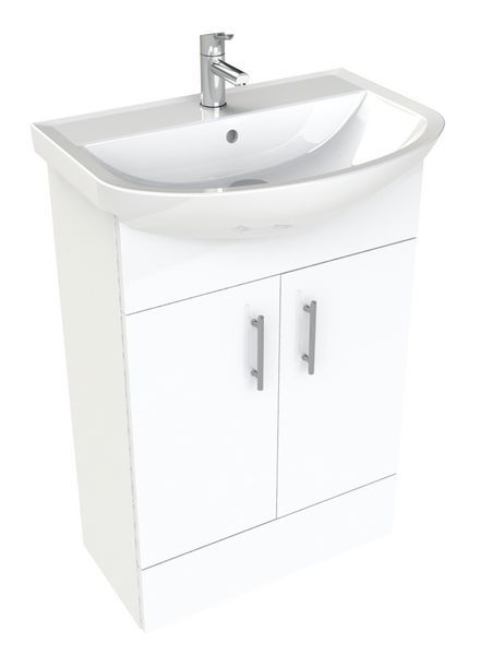 * Nab 500Mm Vanity Basin Unit Wh Gloss