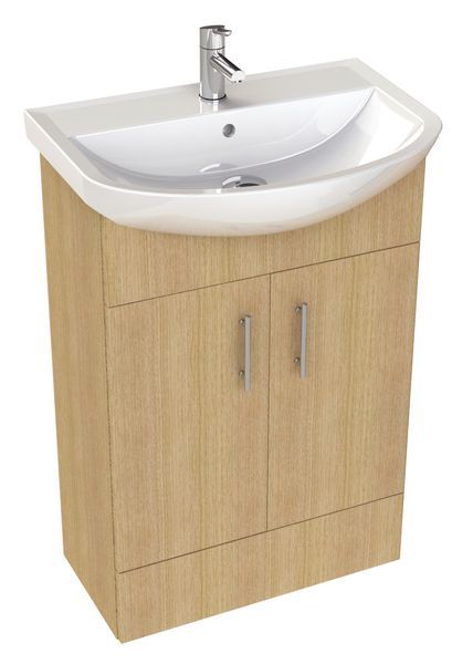 * Nab 500Mm Vanity Basin Unit Nat Oak