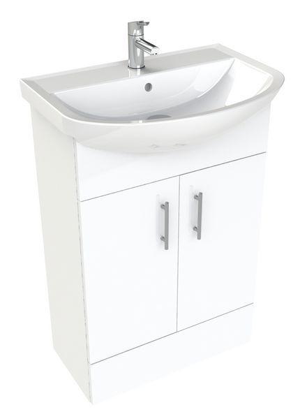 * Nab 555Mm Vanity Basin Unit Wh Gloss