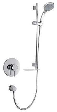 Mira Element Single Lever For On/Off And Temperature Control Thermostatic Built In Valve Shower And Kit