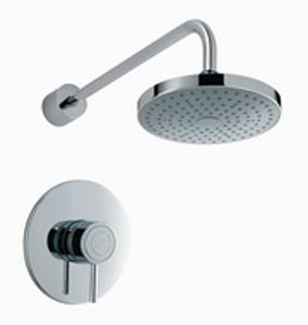 Mira Element Single Lever For On/Off And Temperature Control Thermostatic Built In Recessed Shower And Kit