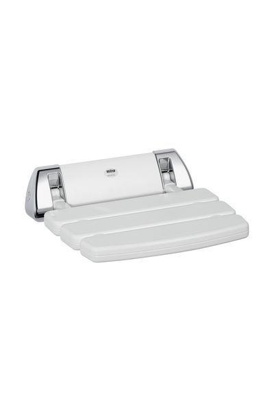 Mira Folding Shower Seat White/Chrome Plated
