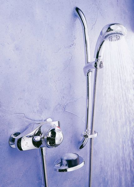 Mira Excel Exposed Valve Thermostatic Shower Mixer And Kit Chrome Plated