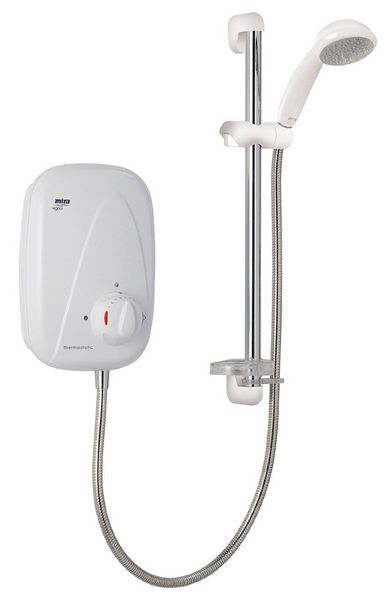 Mira Vigour Manual Power Shower White/Chrome Plated