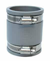 Fle Grey Pvc Straight Coupling E038-038