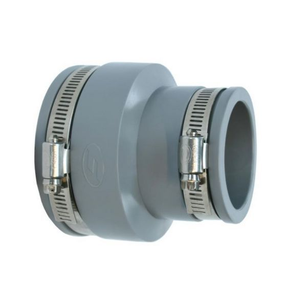 Fle Grey Pvc Adaptor Coupling E058-045