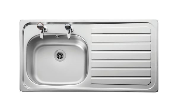 Leisure Lexin Le95r 2 Tap Hole Right Hand Single Bowl Side Drainer 950 X 508 Stainless Steel
