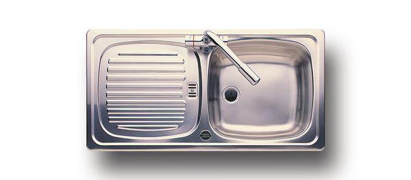 Leisure Euroline El860/Nc Single Bowl Side Drainer 860 X 435 Stainless Steel