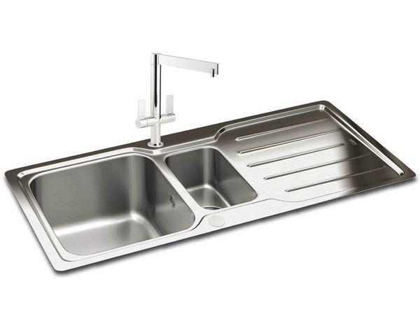 Adelphi 1.5B Reversible Slim Top Sink Ss