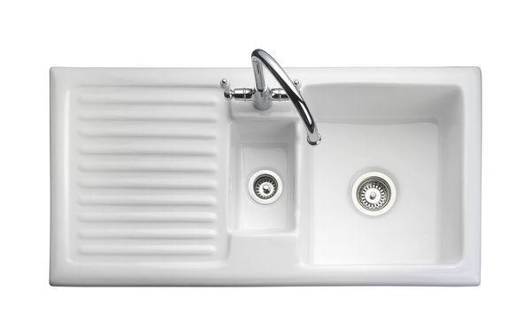 Rustic 1.5 Rev Wht Ceramic Sink 1010*515