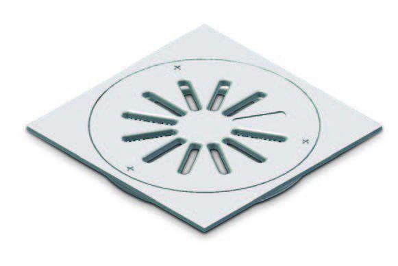 Vx-S271 Vortx Grate Tile 150X150 Ss