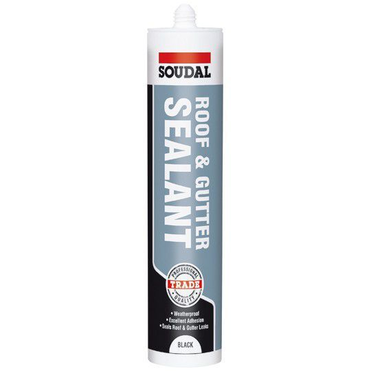 Soudal Roof & Gutter Sealant - Black