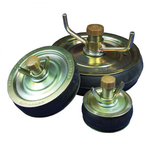 Horobin 50Mm Steel Test Plug + Brass Cap