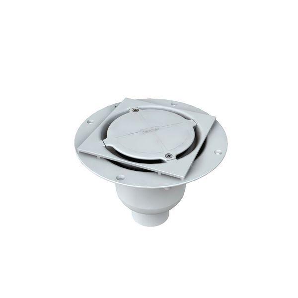 Vert Abs Shower Drain Plain Cvs/Ch/T15
