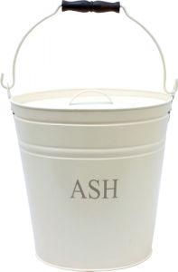 Ivory Printed Ash Bucket & Lid 300