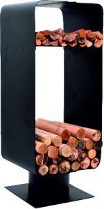 Malmo Log & Kindling Holder; Black 290H 280W 250D