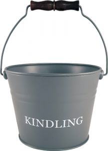 Small Grey Kindling Bucket Printed 230Mm