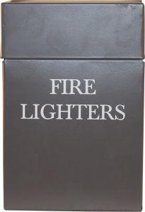 Grey Fire Lighters Box Printed H205 X W80 X D40mm