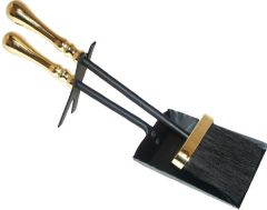 *Clear* Ht Traditional; Black & Brass Plated 380