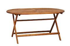 150X90cm Oval Fold Table 116101