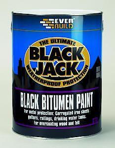 B/J Black Bitumen Paint 1L