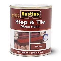 Rustins Step/Tile Paint Red 1L
