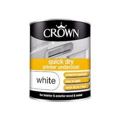 Crown Quick Dry Undercoat Primer White 750Ml