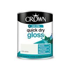 Crown Quick Dry Gloss Milk White 750Ml