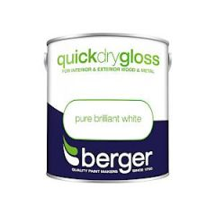 Berger Quick Dry Gloss Pure Brilliant White 2.5L