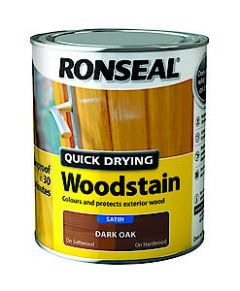 Ronseal Quick Dry Wstn Satin Blk Ebon 250Ml