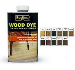 Rustins Wood Dye Ebony 1L