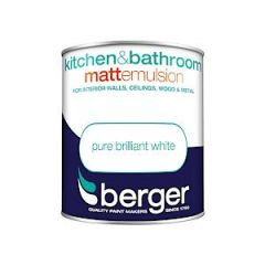 Berger Kitchen & Bathroom Matt Pure Brilliant White 1L