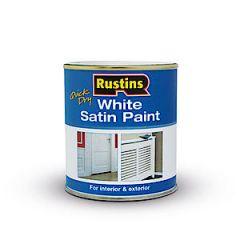 Rustins Satin Paint White 250Ml