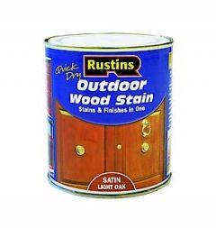 Rustins Ext Woodstain Satin Lt Oak 500Ml