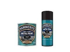 Hammerite Satin Finish Blk 250Ml