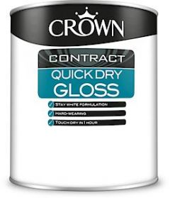 Crown Contract Quick Dry Gloss Bw 1L