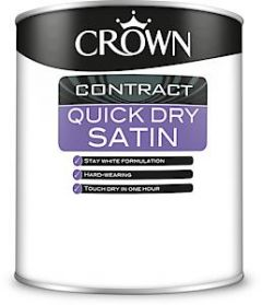 Crown Contract Quick Dry Satin Bw 1L