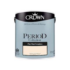 Crown Period Matt Old Eng White 2.5L
