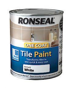 Ronseal 1Ct Tile Paint White Satin 750Ml*