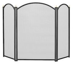 3Fold Fireguard 660Mm Black 1796