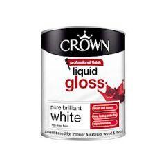 Crown Liquid Gloss Pure Brilliant White 750Ml