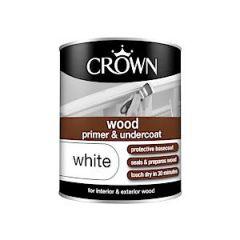 Crown Quick Dry Wood Primer White 750Ml