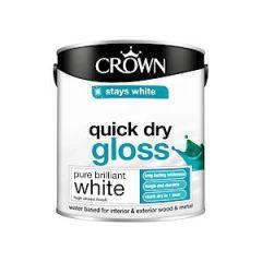 Crown Quick Dry Gloss Pure Brilliant White 2.5L