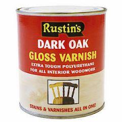 Rustins Gloss Varnish Dark Oak 250Ml