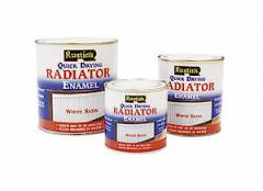 Rustins Quick Dry Satin Radiator Enamel  White 250Ml