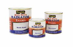 Rustins Quick Dry Satin Radiator Enamel  White 500Ml