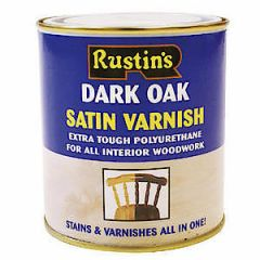 Rustins Satin Varnish Dark Oak 500Ml