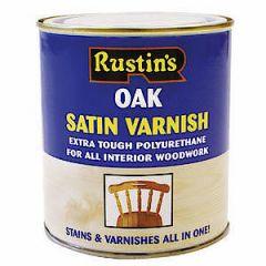 Rustins Satin Varnish Oak 500Ml