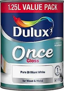 Dulux Once Gloss Pure Brilliant White 750Ml