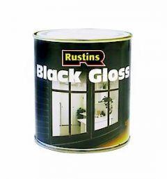 Rustins Black Gloss Paint 500Ml